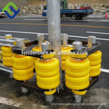 Safety Use Yellow and Orange Color Foam Roller Barrier for vehicle and Road protecting