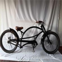 "24"" 3.0 Fat Tire Long Frame Stretch Bike American Beach Cruiser Bike"