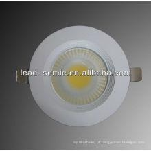 Down luz para uso doméstico 8w lâmpadas de teto LED COB 3inch 220V