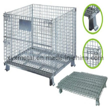 1.2X1.0m Entretoise pliable pliable Logistic Trolley Roll Wire Mesh Storage Cage