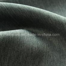 100% Poly Tissu à dos tons en denim pour vêtement