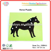 Montessori Spielzeug Biologie Puzzle - Pferd