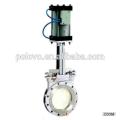 China made hot sale POV wafer pneumatic knife gate valve