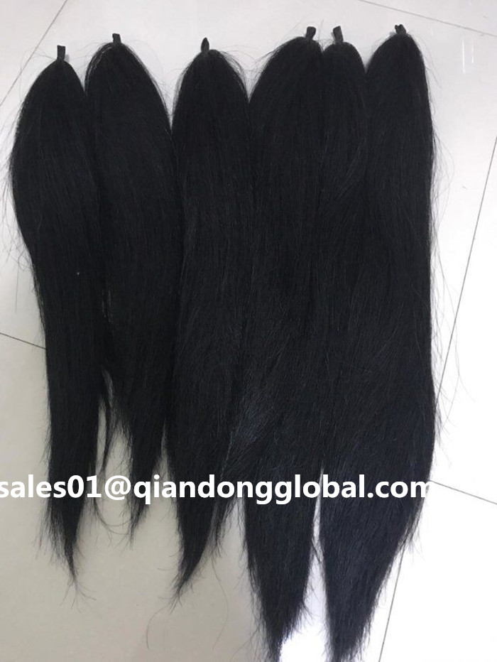 Black False Horse Tail Hair