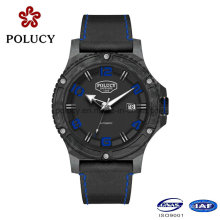 Private Label Carbon Fiber Watch with Genuine Leather