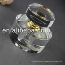 Hermosa botella de perfume de cristal árabe para la decoración real