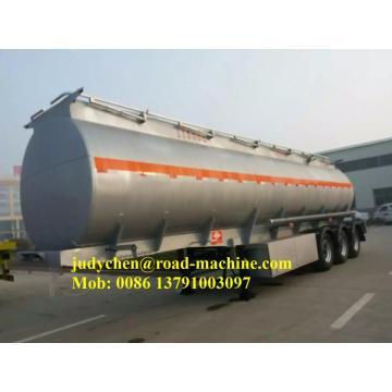 Semirremolque cisterna de combustible de aluminio de 3 ejes 52000L