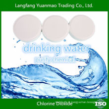 Comprimés à base de dioxyde de chlore pour boire de l'eau