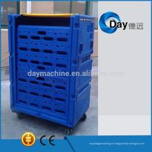 Carro de carro de lavandería de plástico HM-1 PE con almohadilla de plástico