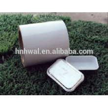 Lubricated and color coated aluminium airline container foil