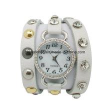 Reloj de mujer de cuero con pulsera de reloj