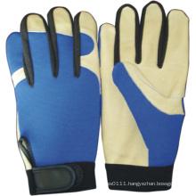 Pig Grain Leather Palm Mechanic Work Glove-7301. Wl