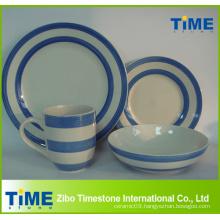 16PCS Handpainted Stoneware Dinner Set