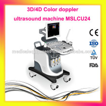 New & advanced Trolley 3D/4D color doppler ultrasound machine - MSLCU24-M, CE approve!