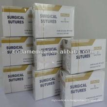 Хирургический шов Хромированный шовный материал кетгута с кетгутом ISO13485 и 9001
