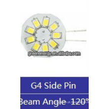 bolacha G4 9 leds 1.5 W 12 V AC / 10-30 V DC lateral pin / pino traseiro