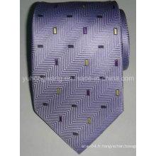 Cravate en jacquard en soie personnalisée en soie