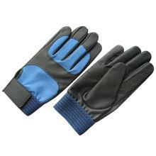 PU двойной ладони рабочие перчатки механик