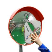 Jessubond 30CM  PC Round Traffic Convex Mirror  with Orange/Black, Road safety Mirror/