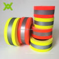 Hi Vis Yellow reflective reflector Sewing Fabric Tape For Firefighter