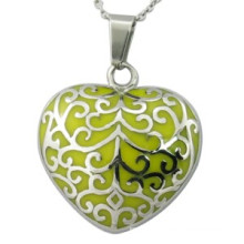 Yellow Heart Pendant Enamal Jewellry Fashion Jewellery