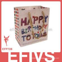 Feliz cumpleaños Polka Dot bolsa de regalo hecha a mano