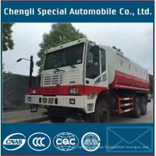 Camión cisterna del agua del chasis de camión de la explotación minera de 25000liters 6X6