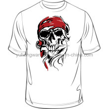 Hot Selling de alta calidad de algodón de los hombres impresa camiseta