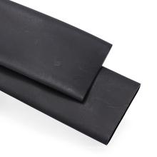 Tubo termocontraíble de pared delgada negra de Rohs