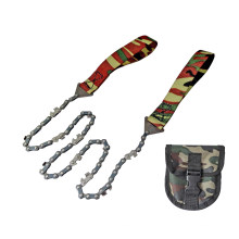 Camouflage Survival Pocket Hand Chainsaw with Pouch