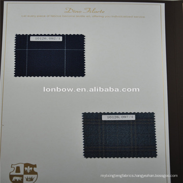 Italian design fine quality check pattern 100% wool suit fabric for made to measure service