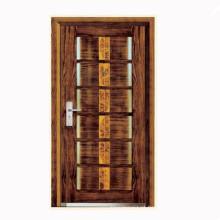 Desenhos de esqueleto de madeira superfície porta blindada de aço