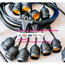 Тяжелый кабель долг 18 гнезд 21 лампы накаливания (3 запасных) винтажный всепогодный для Патио двор сад палуба SLT661