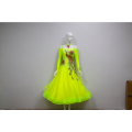 Robes de danse de salon jaune uk