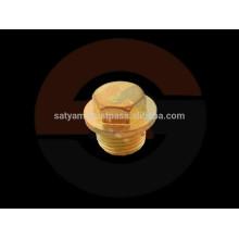 Enchufe de tubo hexagonal de bronce con brida