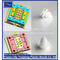 8 cavity auto spare parts chock plug plastic injection moulding (video)
