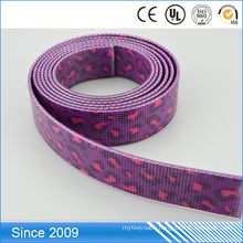 High quality pvc coated recycle custom printed woven webbing for pet collar