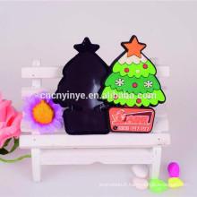 arbre de Noël promotionnel en forme d'aimant de réfrigérateur en pvc 2D