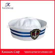 promotional wholesale custom-made hot sale design your own logo high quality cheap embroidery logo navy sailor captain hat