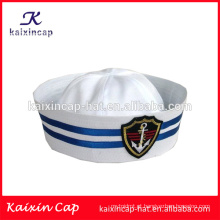 Venda por atacado personalizado feito-quente venda design seu próprio logotipo de alta qualidade barato bordado logotipo marinha marinheiro capitão chapéu
