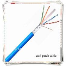 Geschirmte CAT6 FTP CMR Riser Nennnetzwerk Ethernet Bulk Kabel STP 1000FT - Grau