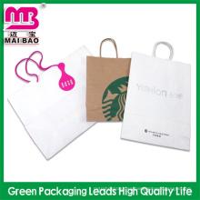 precio de fábrica que envía libremente las bolsas de papel de Kraft marrón para el embalaje de la ropa