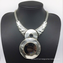 Glroy moda atraente grande pedra de vidro liga de base de colar (xjw13785)
