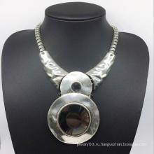 Glroy модные привлекательные большой стекло камень сплава ожерелье (XJW13785)