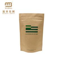 Top Grade Standing up Resealable Heat Sealed Aluminum Foil Brown Kraft Paper Bags for Food