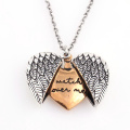 Multi-layer Openable Lettering Necklace for women Love Round Flower Pendant Fashion Jewelry