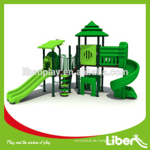 Eco-friendly Kinder Outdoor Spielplatz Slide Play Struktur LE.SL.004