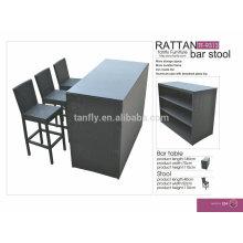 TF-9313 фабрика производитель прямых Wholesal алюминия fram мебель барные стулья из ротанга и бар бар таблицы/коммерческие
