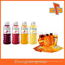 PVC drinks label , PVC shrink labels for water/juice/beverage bottle packaging