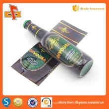 Impression plastique 30u pvc rétrécir les étiquettes pour le paquet de bouteilles